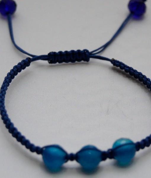 Bratara cu agat albastru